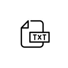 Text Trendy Thin Line Icon