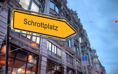 Strassenschild 23 - Schrottplatz