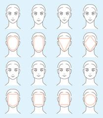 男の子の顔の形-タイプ別