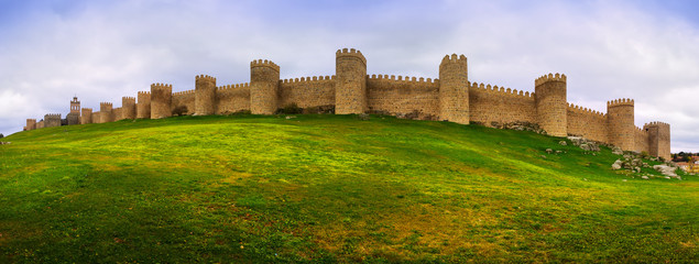 Panorama of medieval town walls