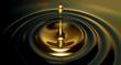 Leinwandbild Motiv Oil Droplet