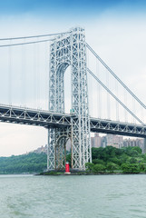 George Washington Bridge from Hudson, New York