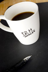 black coffee for overtime worker