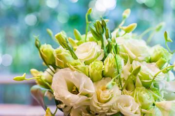 beautiful wedding bouquet ; Close up