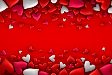Colorful hearts background