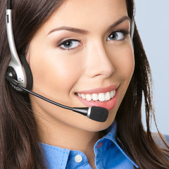 Support phone operator over grey