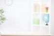 Leinwanddruck Bild - nursery room blurred background with writting desk