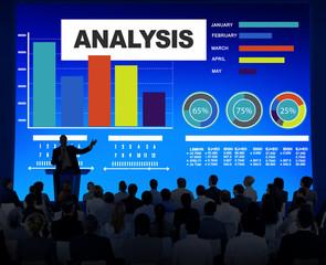 Analysis Analyzing Information Bar Graph Data Statistic Concept