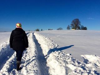 Spaziergang im Tiefschnee