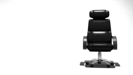 Business Chair, White Text Space
