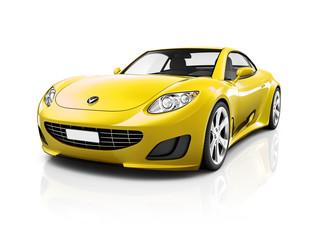 Illustration of Transportation Technology Car Concept