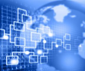 Business Network  flow chart concept.