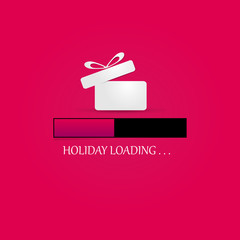 Holiday, loading. Progress bar design.