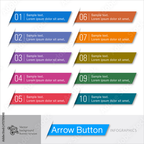 Infographic Vector Arrow Button - 75780648
