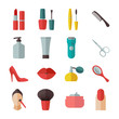 Beauty and makeup flat icons - 75780857