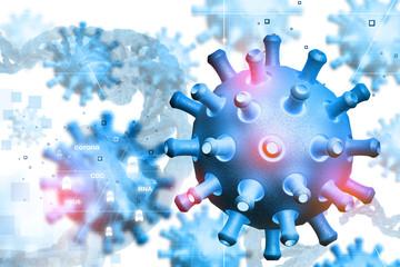 Digital illustration of virus