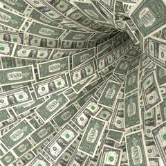 Geldstrudel aus 1 Dollarscheinen