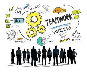 Teamwork Team Together Collaboration Business Aspiration Concept