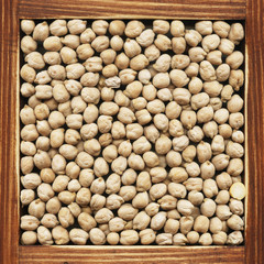 Chickpeas, collection of products.