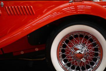 Vintage car spoke wheel