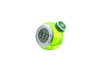 Eco Clock Watch Side View Without Battery in White Background