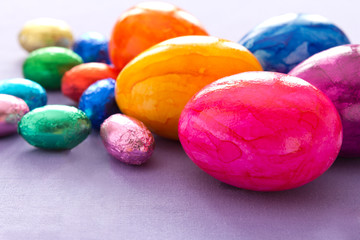 Colorful Easter Eggs copyspace