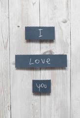 """I love you"" handwritten card"