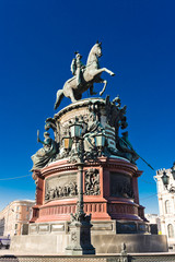 The monument to Nicholas I (1859) in St. Petersburg, Russia