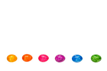 Easter Eggs rainbow isolated copyspace