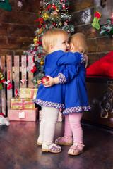 children, new year, christmas, christmas tree