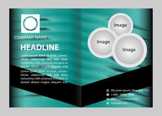 Vector blue brochure template design