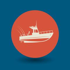 Motor boat symbol, vector