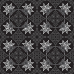 seamless pattern with ornate design on a dark