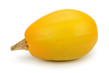 yellow pumpkin isolated on white