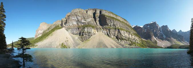 Moraine lake panoramic view. Alberta. Canada