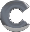Metal Letter C - 75785881