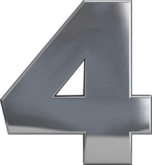 Four - Metal Number 4