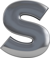 Metal Letter S