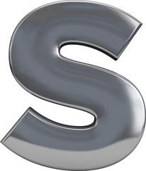Metal Letter S