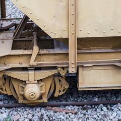 Detalle de un vagón ferroviario de carga