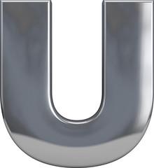 Metal Letter U