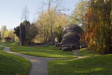 Stone huts of St. Fiachra's Garden