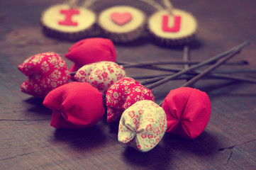 Valentine background, I love you message