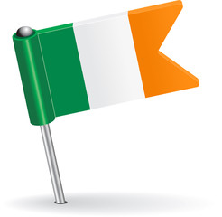 Irish pin icon flag. Vector illustration