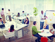 Group Business People Office Building Meeting Concept
