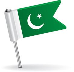 Pakistani pin icon flag. Vector illustration
