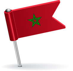 Moroccan pin icon flag. Vector illustration