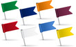 Set of pin icon flags. Vector illustration - 75787417