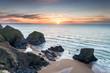 Dramatic Sky Over The Cornwall Coast