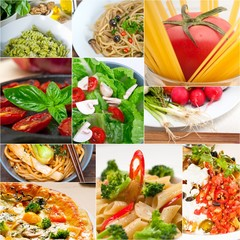 healthy Vegetarian vegan food collage